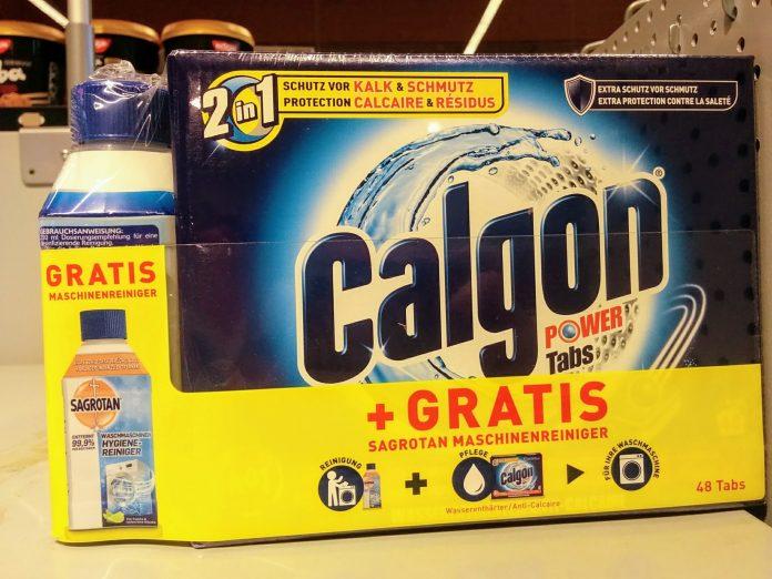 Calgon Power Tabs und Sagrotan Maschinenreiniger