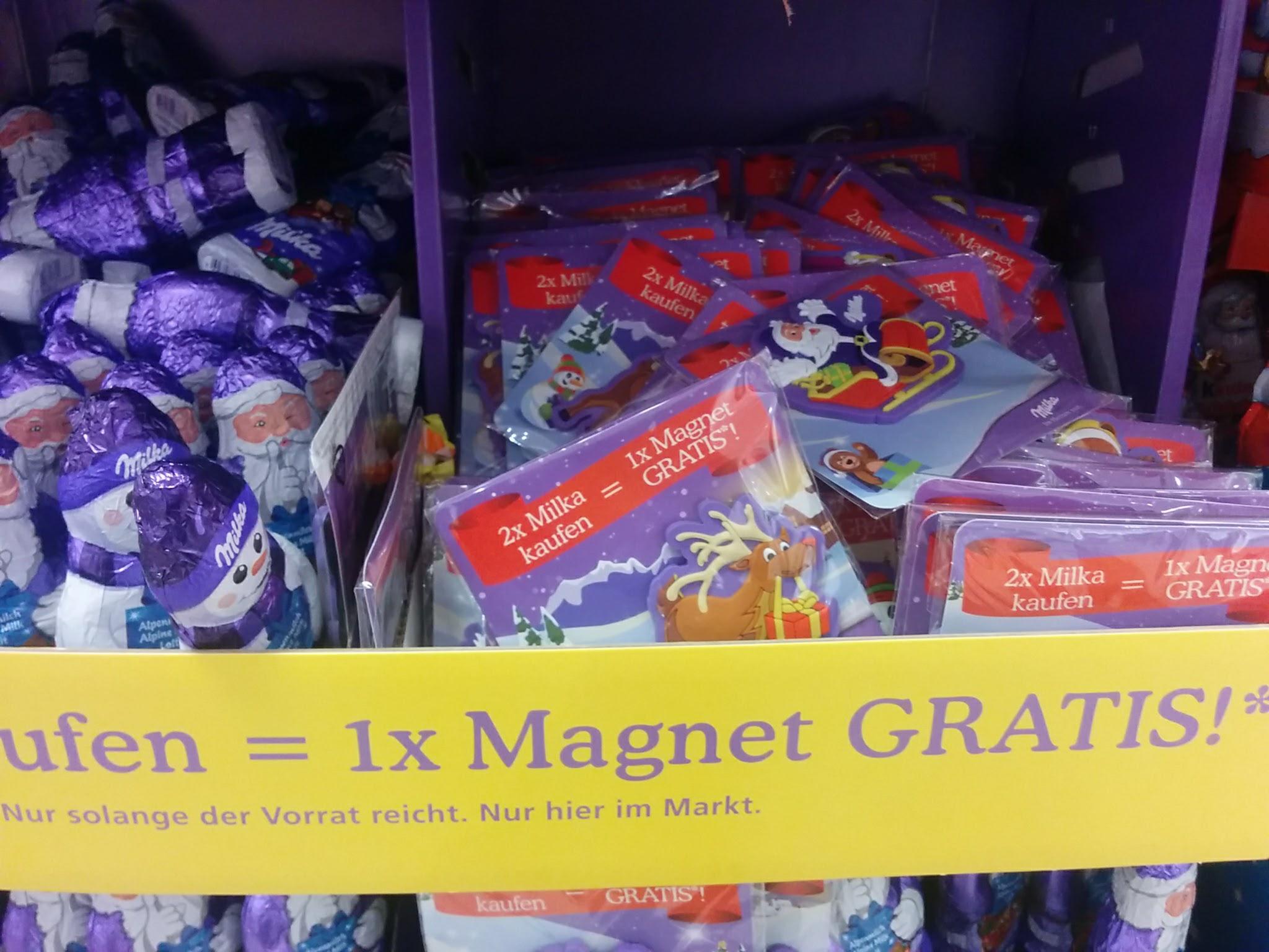 Milka: Kühlschrank-Magnet geschenkt | Hamsterrausch