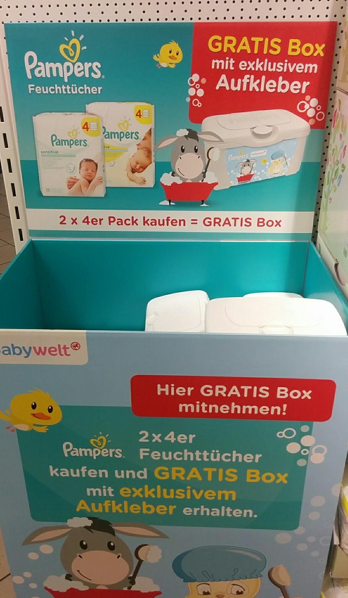 pampers feuchtt cher box geschenkt hamsterrausch. Black Bedroom Furniture Sets. Home Design Ideas