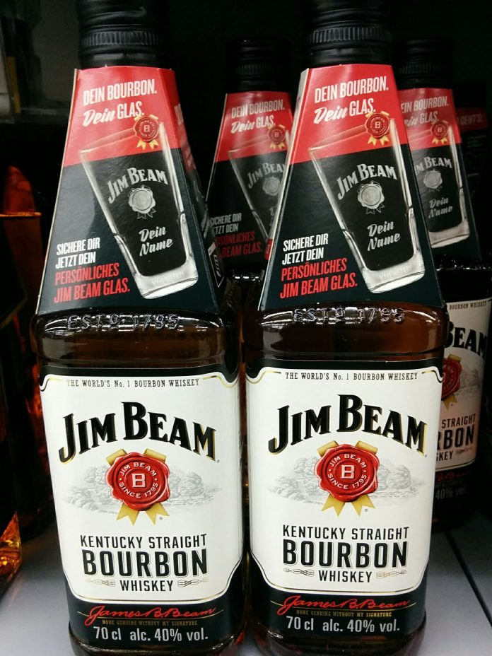 jim beam dein glas