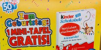 kinderschokolade - Mini-Tafel gratis