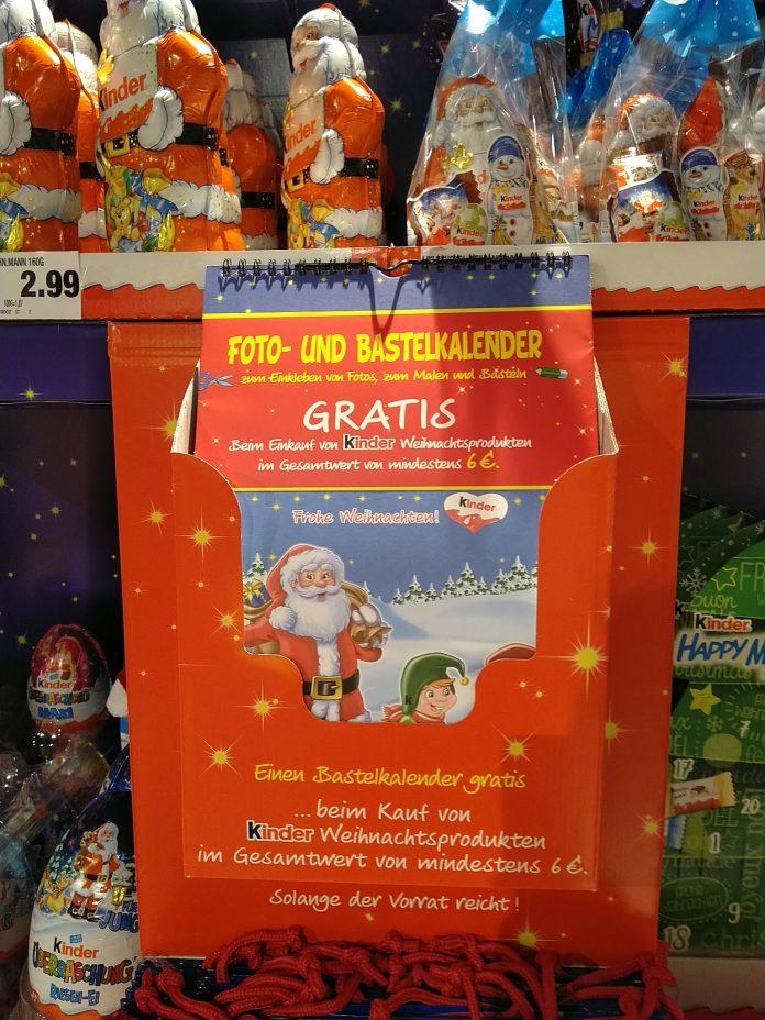 Ferrero-Kinder-Bastelkalender