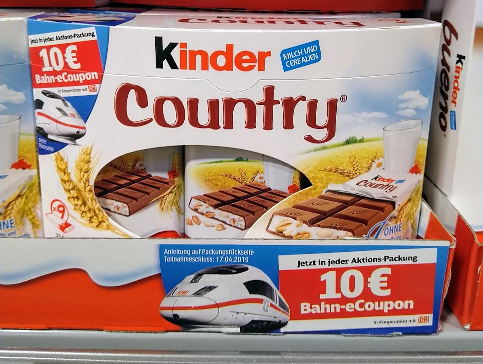 Duplo Hanuta Kinder 10 Euro Gutschein Für Deutsche Bahn Geschenkt