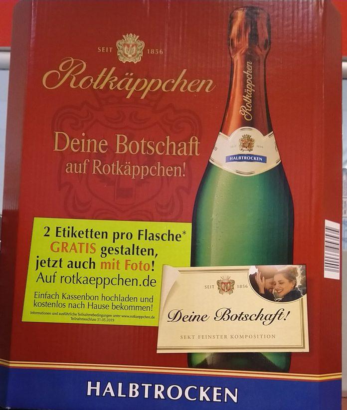 Rotkäppchen Zwei Etiketten Mit Foto Und Namensaufdruck
