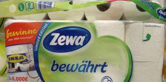 Zewa bewährt - Ikea-Gutschein