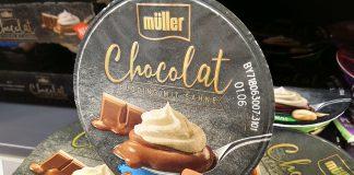 Müller Chocolat Pudding mit Sahne