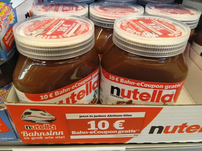 Nutella Bahnsinn eCoupon Gutschein 2019