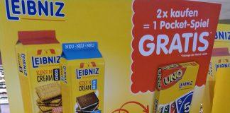 Leibniz Keks'N Cream - Pocket-Spiel Scrabble, Uno, Phase 10
