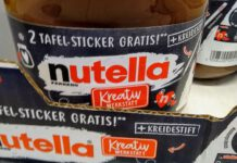 Nutella Kreativwerkstatt - Tafelsticker Kreidestift gratis