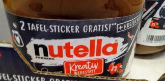 Nutella Kreativwerkstatt - Tafelsticker Kreidestift gratis