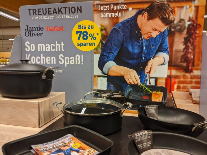 Edeka Marktkauf Treueaktion: Punkte sammeln, Pfannen von Jamie Oliver by Tefal mit Treue-Rabatt