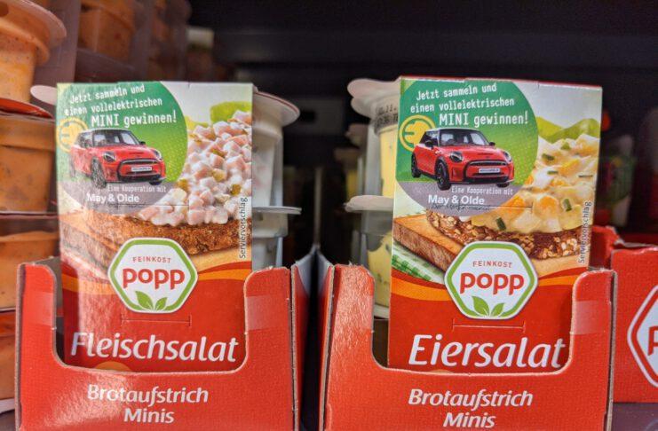 """Popp Feinkost """"Mini aufs Brot"""": sammeln und vollelektrischen Mini Cooper gewinnen"""